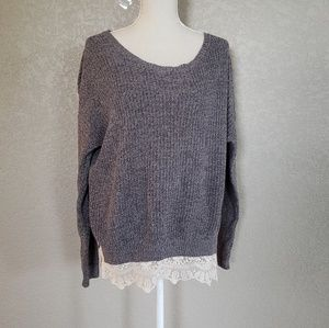 Pins And Needles lace hem sweater